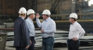 The leaders of Sakhalin region visited Nevsky Shipyard.